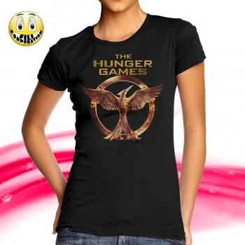 T-Shirt Donna THE HUNGER GAMES Il canto della rivolta Katniss uccelo film movie