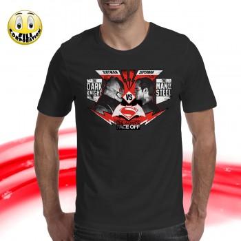 T-Shirt Donna DEADPOOL MARVEL DARK GUN face red fumet