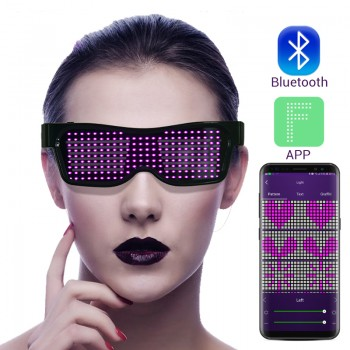OCCHIALI LED BLUETOOTH APP...