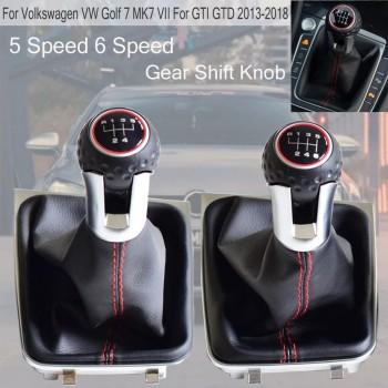 VW GOLF 7 MARCE 5 6 KIT COMPLETO POMELLO LEVA DEL CAMBIO + CUFFIA W/NERO sport