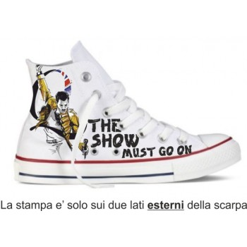 SCARPE FREDDY MERCURY QUEEN ROCK THE SHOW MUST GO ON MODELLO SIMIL NO CONVERSE