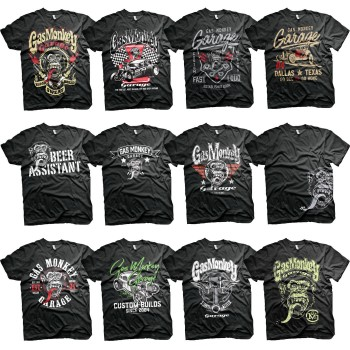 T-SHIRT GAS MONKEY GARAGE GMG FAST N LOUD  HOT RODS