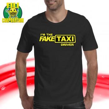 T-SHIRT I M THE FAKE TAXI DRIVER TAXI FINTO SEGNO MAGLIA